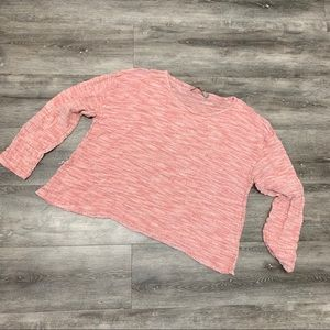 FLAX pink linen cropped top small langenlook
